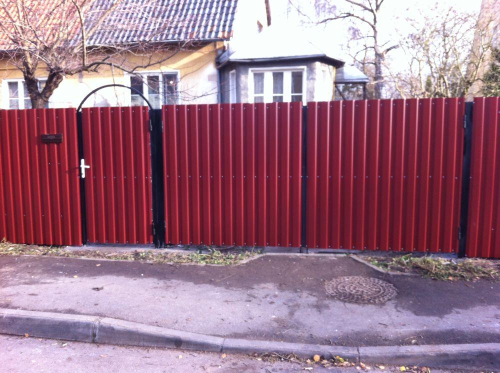 Забор из профлиста калитка